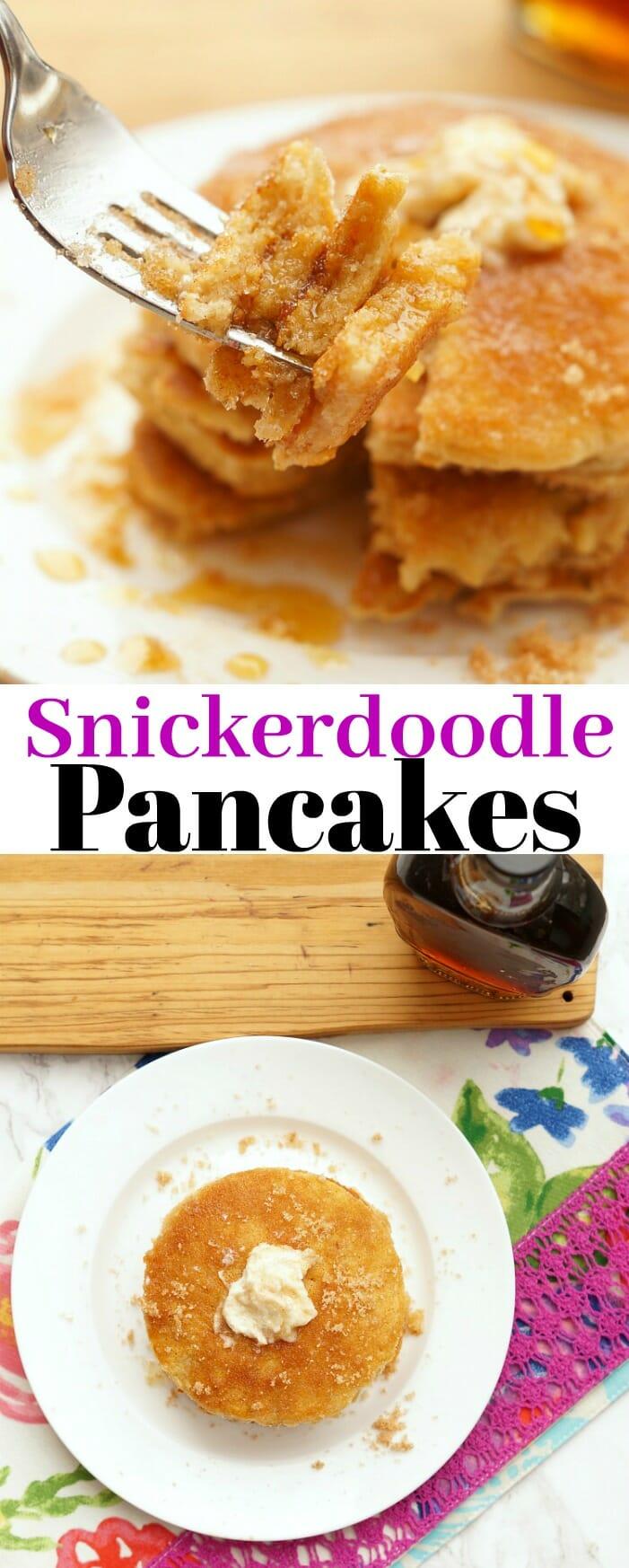 Easy Snickerdoodle Pancakes