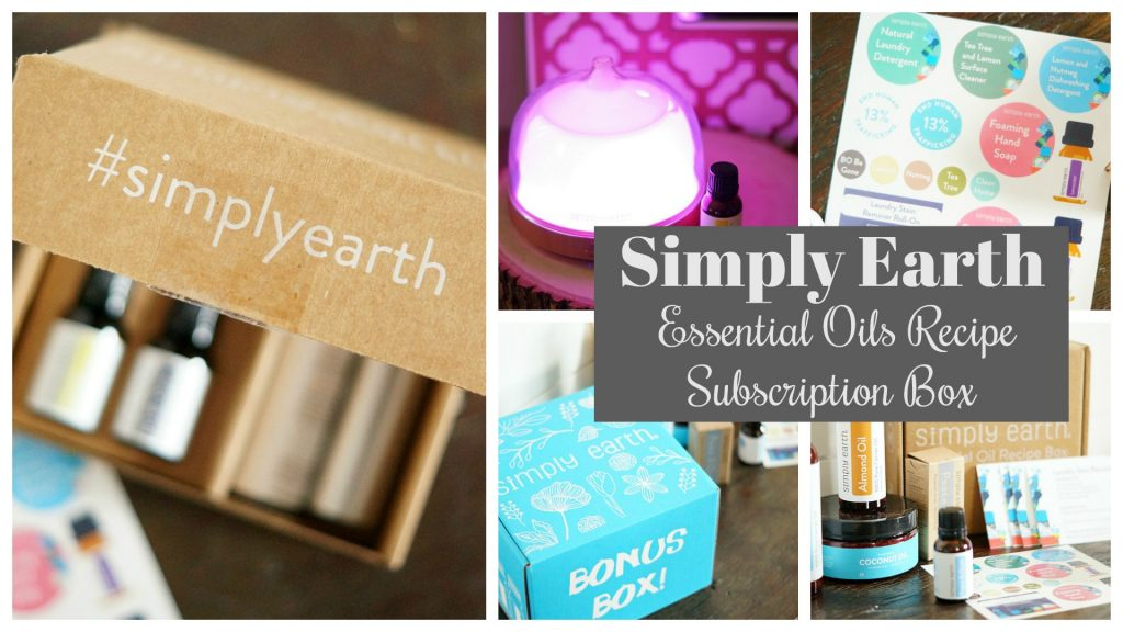 Simply Earth Essential Oils Recipe Box