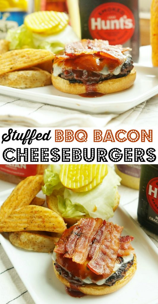 Easy BBQ Stuffed Bacon Cheeseburgers