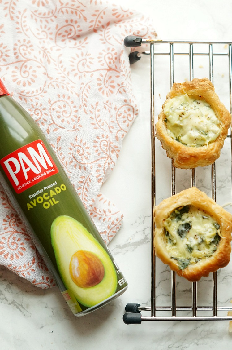 Spinach and Artichoke Puff Pastry Cups
