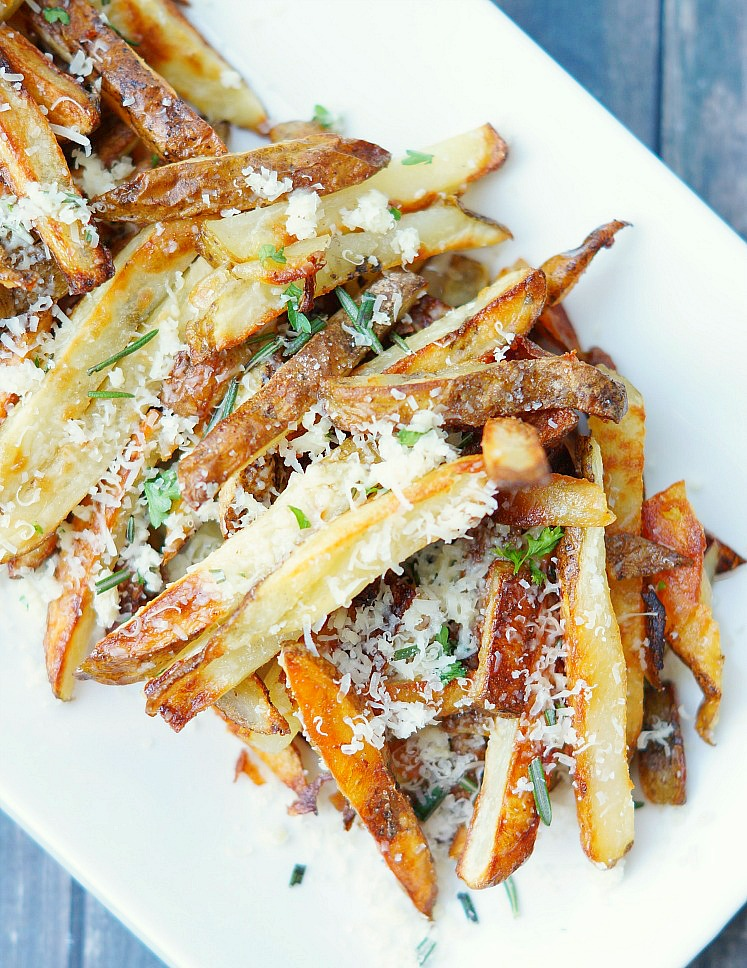 Baked French Fries with Garlic and Herbs
