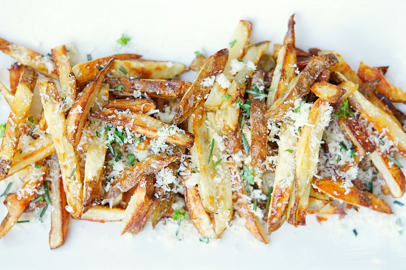 Healthy Baked French Fry recipe with Parmesan and Garlic