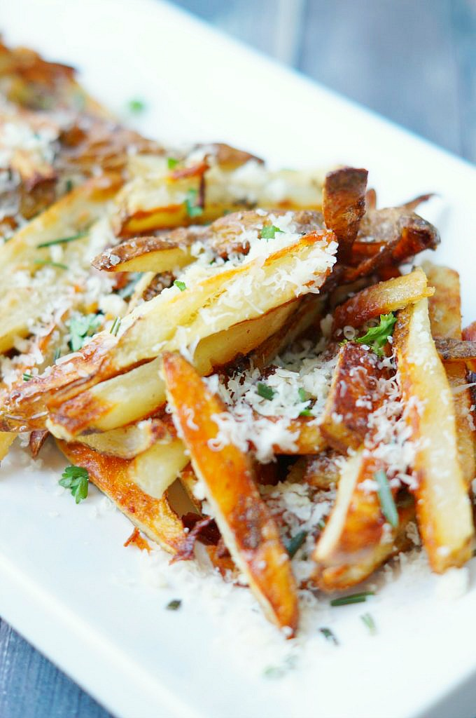 Crispy Baked French Fry Recipe with Garlic and Parmesan
