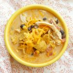 Slow Cooker Cheesy Chicken Chili