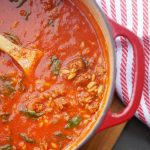 Spicy Sausage and Orzo Soup
