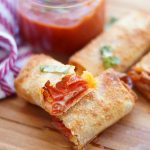 Air Fryer Pepperoni Pizza Egg Rolls