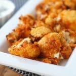 Easy Air Fried Buffalo Cauliflower