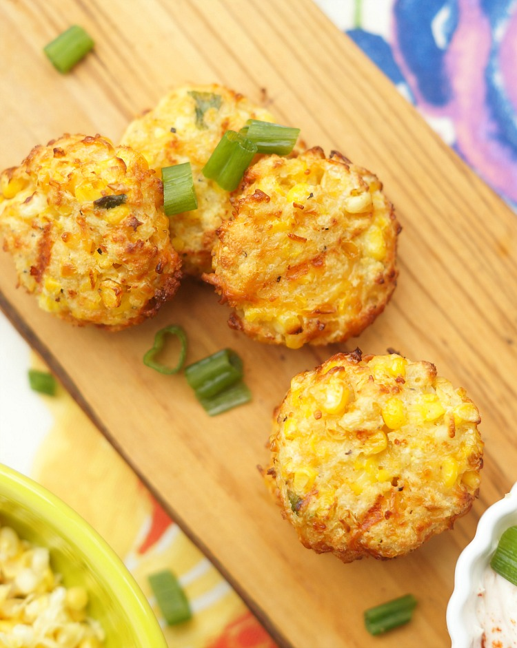 Cheesy Baked Corn Fritters