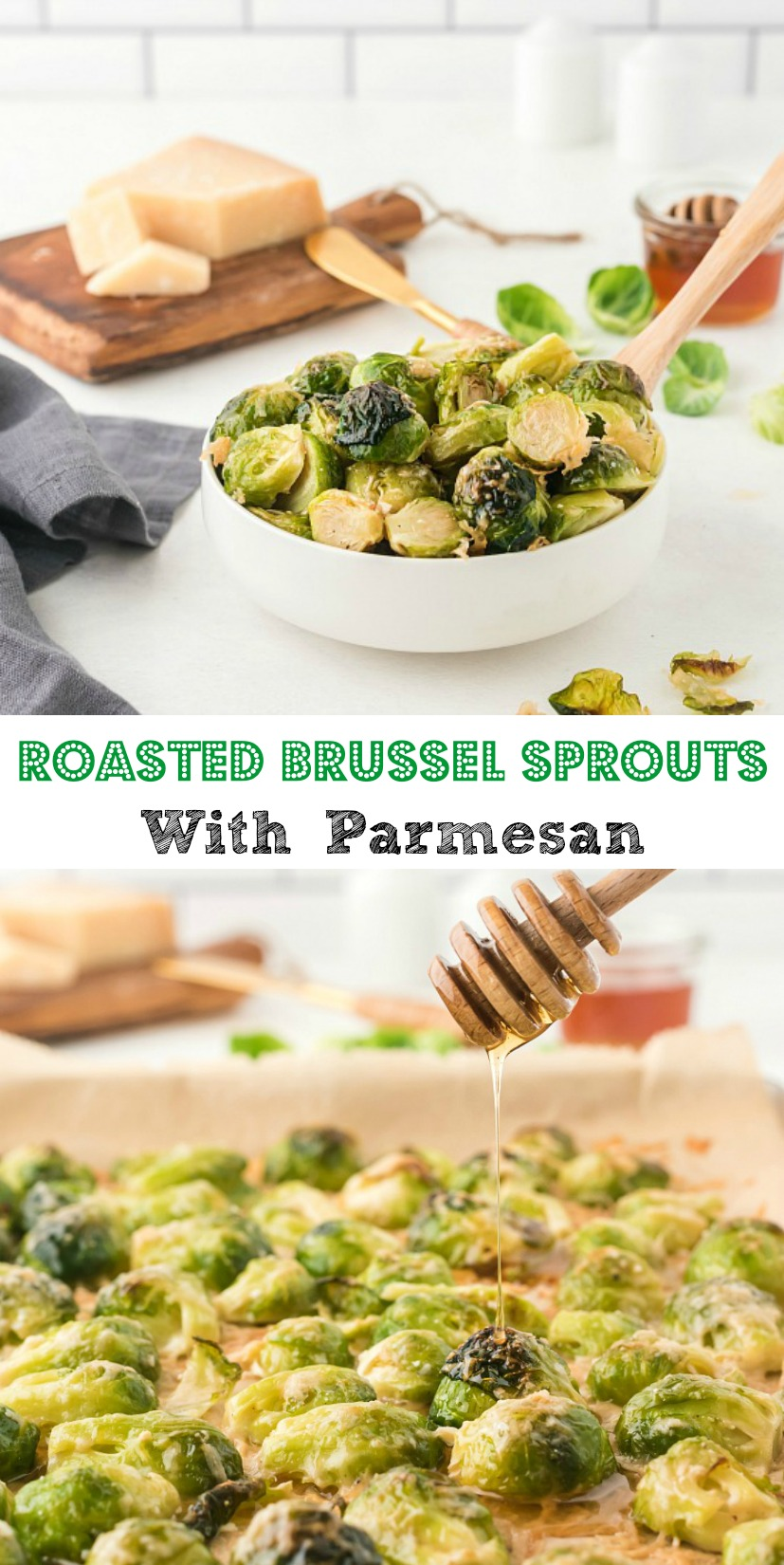 Easy Roasted Brussel Sprouts with Parmesan