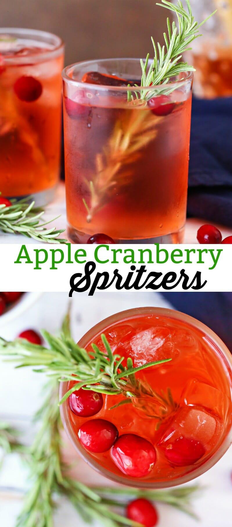 Apple Cranberry Spritzers