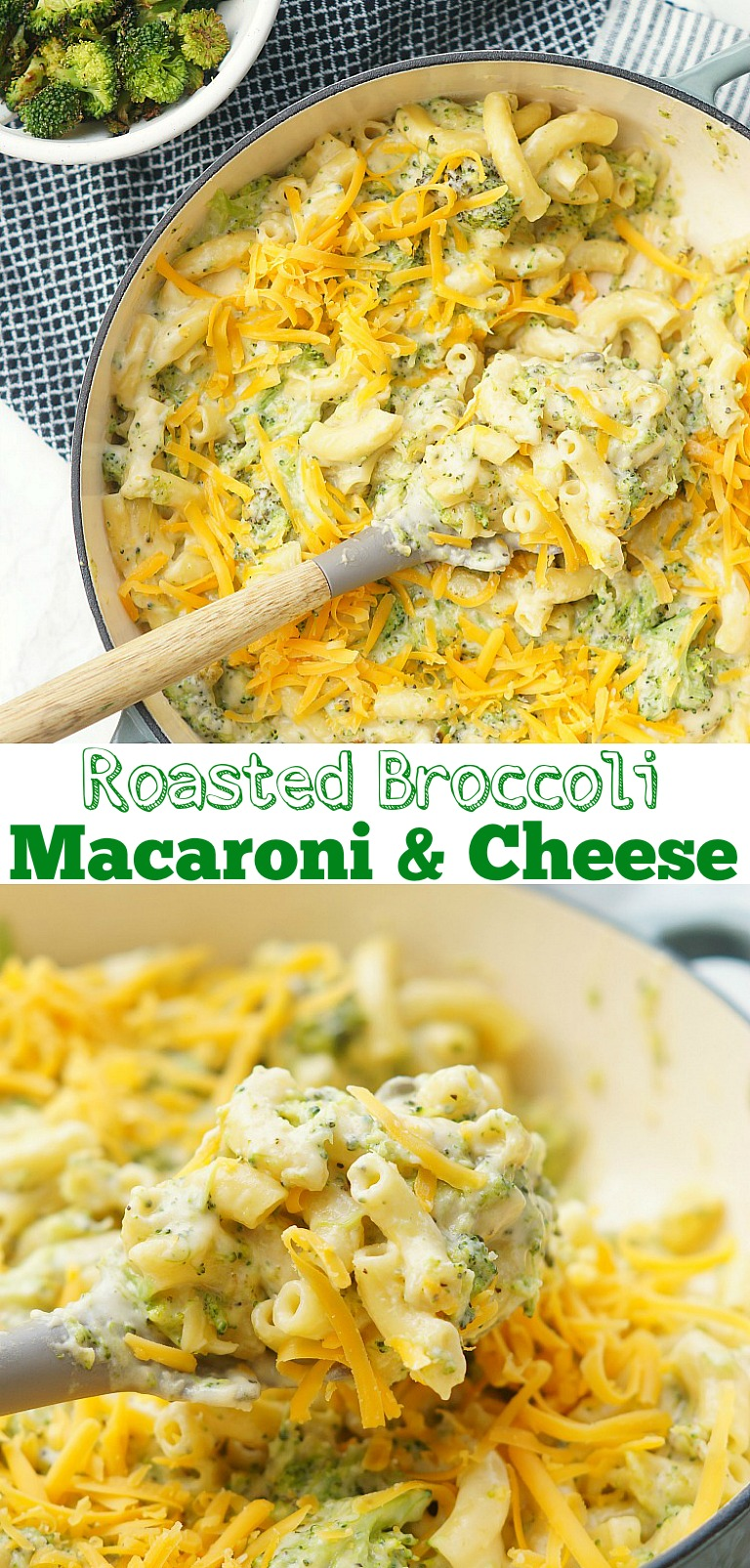 Roasted Broccoli with Macaroni and Cheese