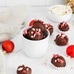 Peppermint Bark Truffles