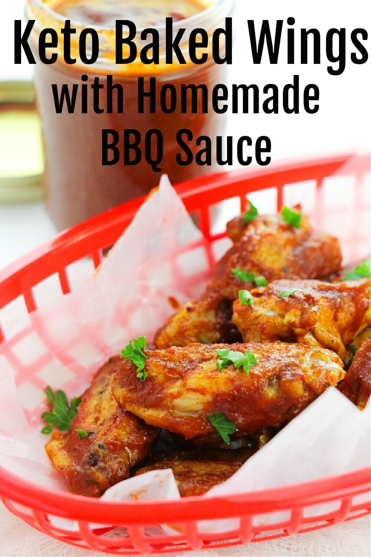 Easy Baked Keto BBQ Chicken Wings Recipe