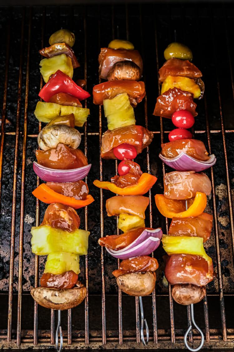 Smoked Chicken Kabobs