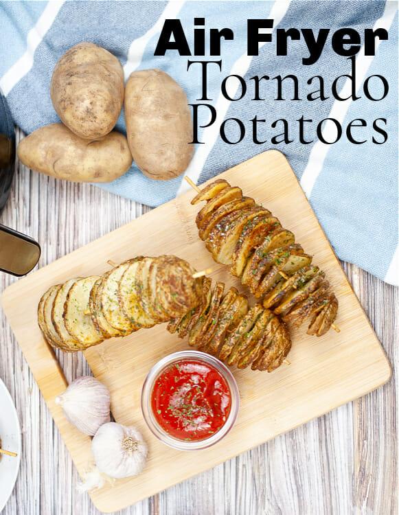Easy Air Fryer Tornado Potatoes