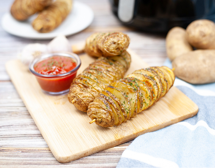 Twisted Potatoes in the Air Fryer