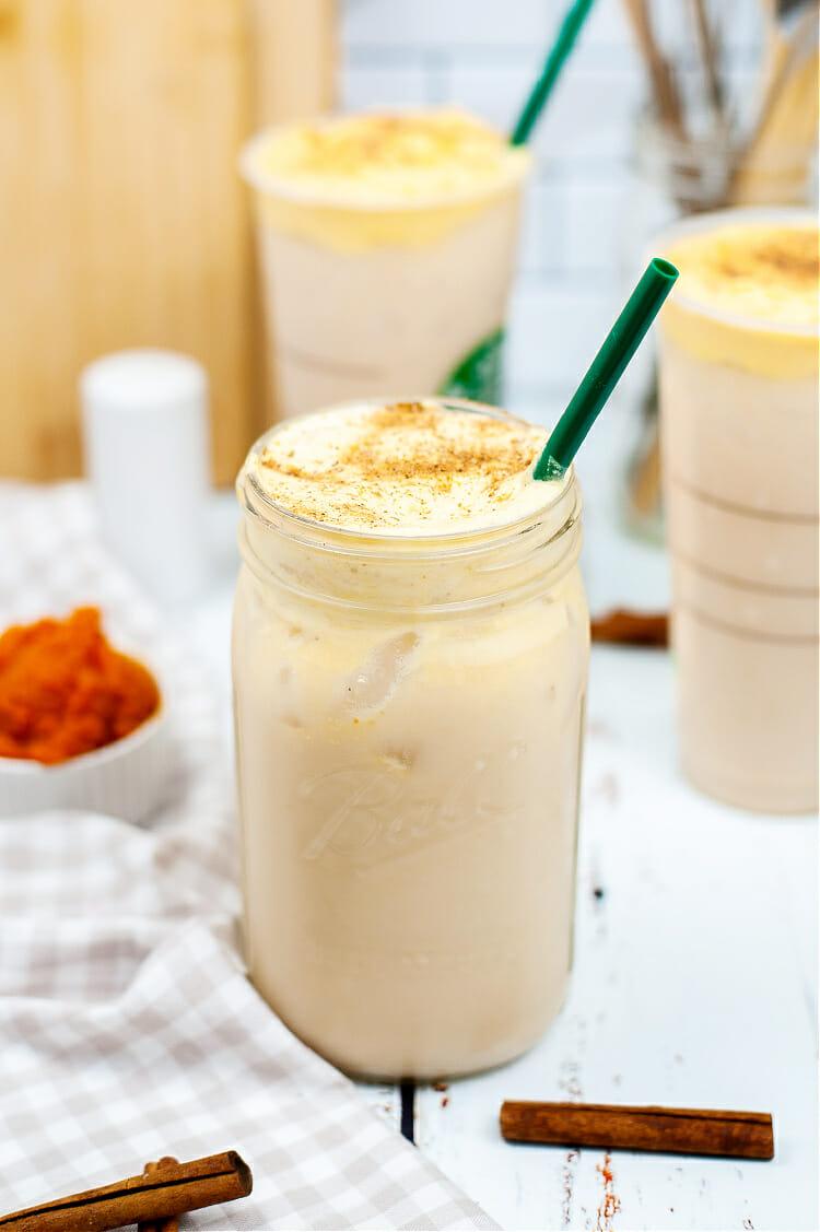 Starbucks Iced Chai with Pumpkin Cream Cold Foam